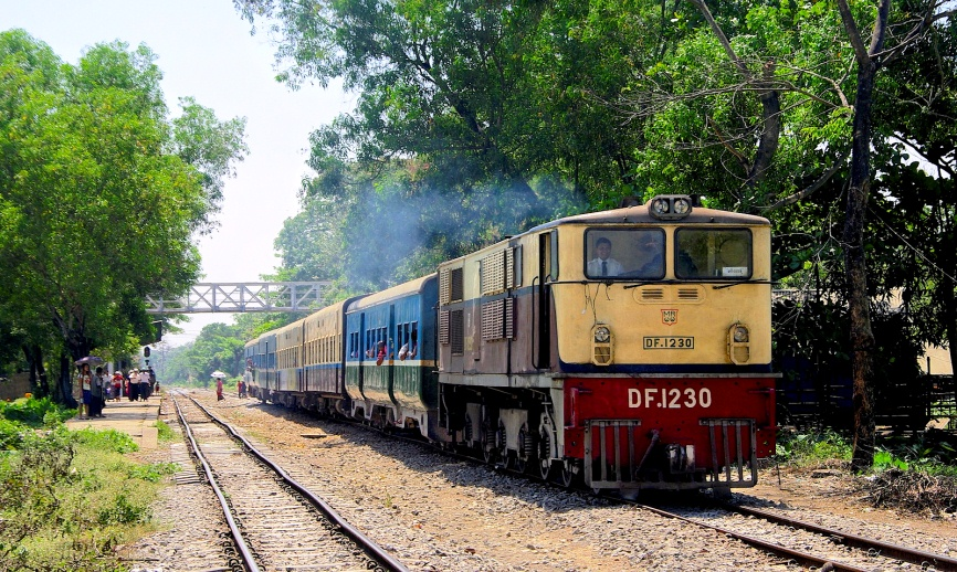 Begin run from Myitkyina to Mandalay with Air bag train  on 2 Mar 2020